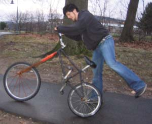 eccentric wheel bike